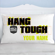 Personalized American Ninja Warrior Hang Tough Pillow Case