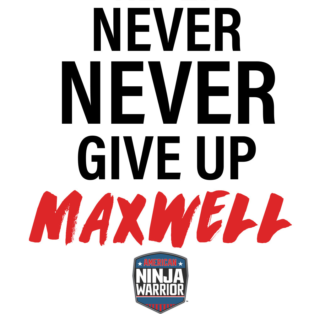 Personalized American Ninja Warrior Never Give Up Canvas - 16X20-secondary-image
