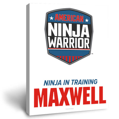 Personalized American Ninja Warrior Ninja In Training Canvas - 16X20