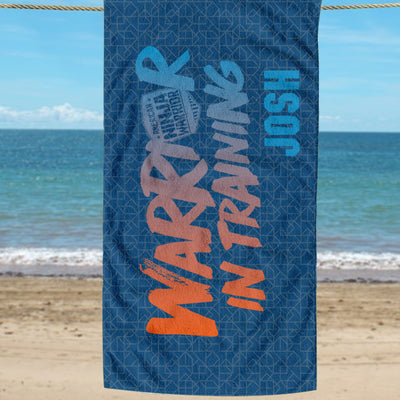 "Personalized American Ninja Warrior Beach Towel - 30"" x 55"""