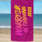 Personalized American Ninja Warrior In Training Towel