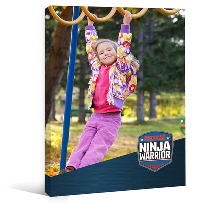 "Personalized American Ninja Warrior Gallery Wrapped Canvas - 16"" X 20"""