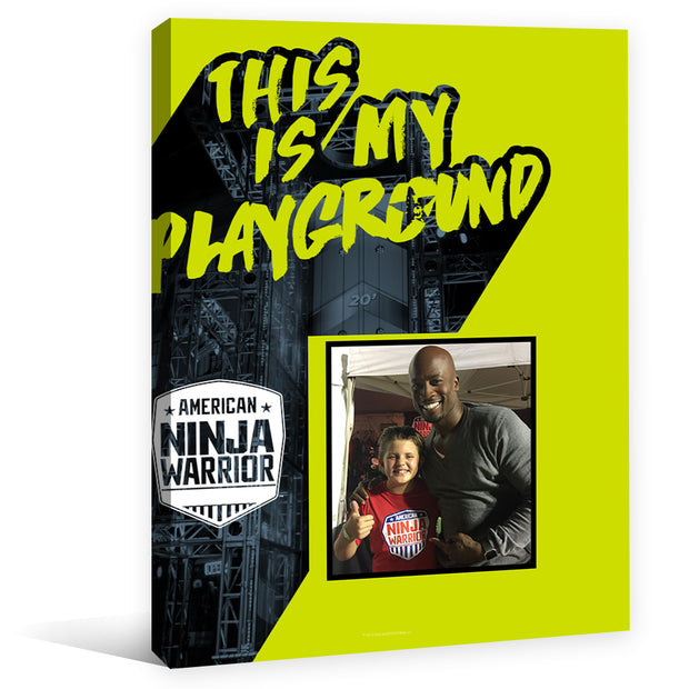 Personalized American Ninja Warrior This is My Playground Canvas - 16X20