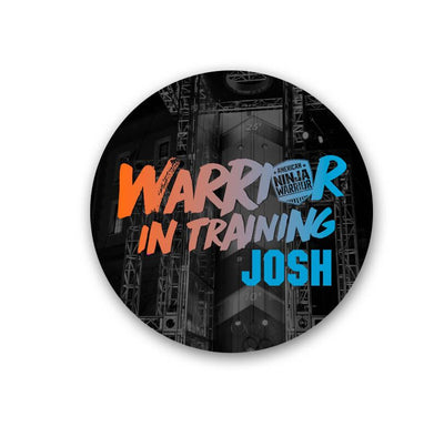 Personalized American Ninja Warrior In Training Sticker - 96 Pack