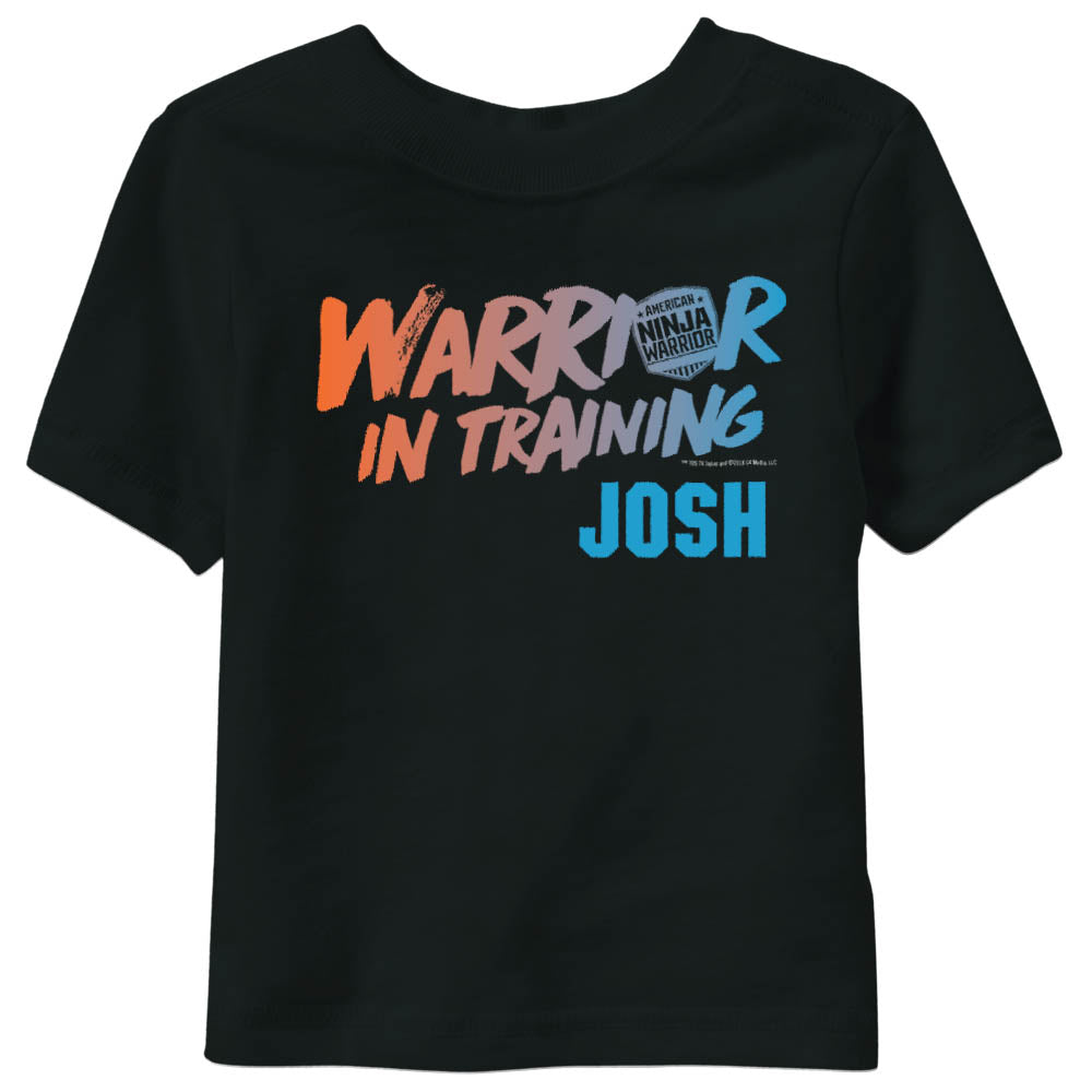 Personalized Warrior In Training Kids Short Sleeve T-Shirt-secondary-image