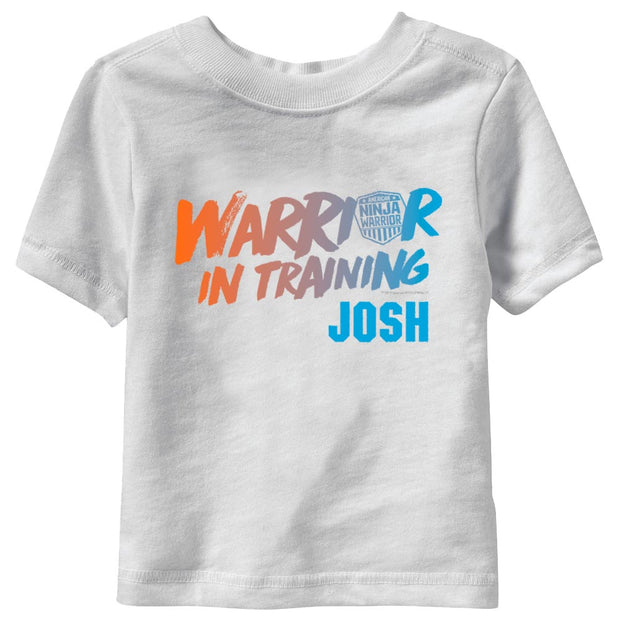 Personalized Warrior In Training Kids Short Sleeve T-Shirt