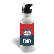 Personalized American Ninja Warrior Logo Water Bottle
