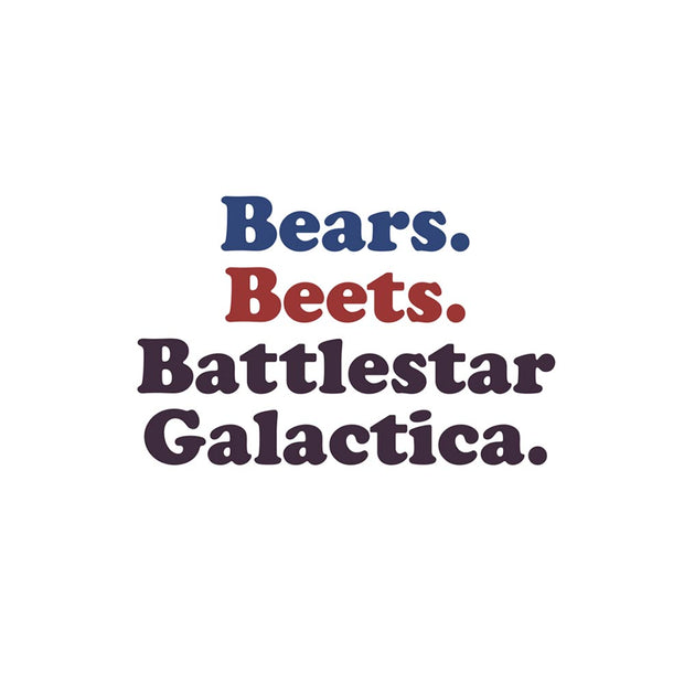 The Office Bears. Beets. Battlestar Galactica iPhone Tough Phone Case