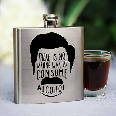 Parks And Recreation Ron Swanson Flask
