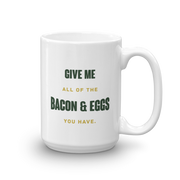 Parks and Recreation Bacon and Eggs White Mug