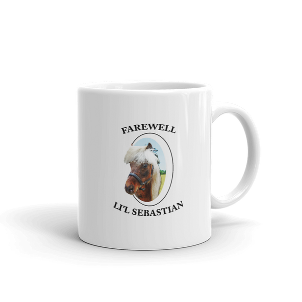Parks and Recreation Farewell Li'l Sebastian White Mug