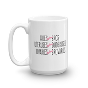 Parks and Recreation Hoes Before Bros White Mug