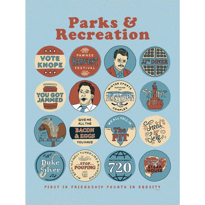 Parks and Recreation Quote Mash-Up Poster - 18 x 24