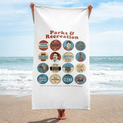 Parks and Recreation Quote Mash-Up Beach Towel