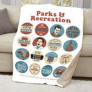 Parks and Recreation Quote Mash-Up Sherpa Blanket