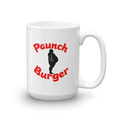 Parks and Recreation Paunch Burger White Mug