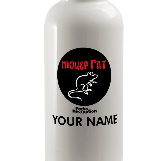 Personalized Parks and Recreation Mouse Rat Water Bottle