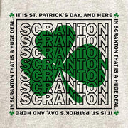 The Office Scranton St. Patrick's Day Tri-Blend Raglan Hoodie