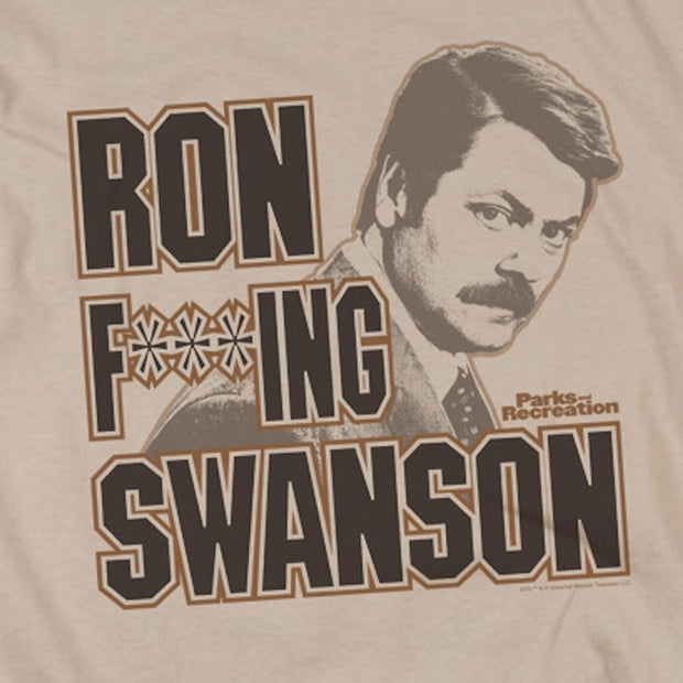 Parks and Recreation Ron F***ing Swanson Long Sleeve T-Shirt