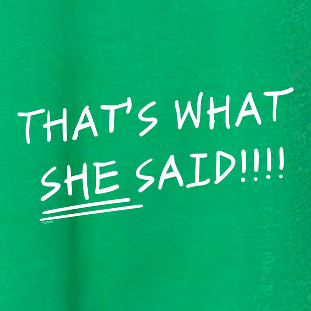 The Office That's What She Said St. Patrick's Day Women's Tri-Blend Dolman T-Shirt