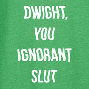 The Office Dwight You Ignorant Slut St. Patrick's Day Lightweight Hooded Sweatshirt