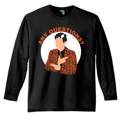 Saturday Night Live David S. Pumpkins Any Questions Black Long Sleeve T Shirt