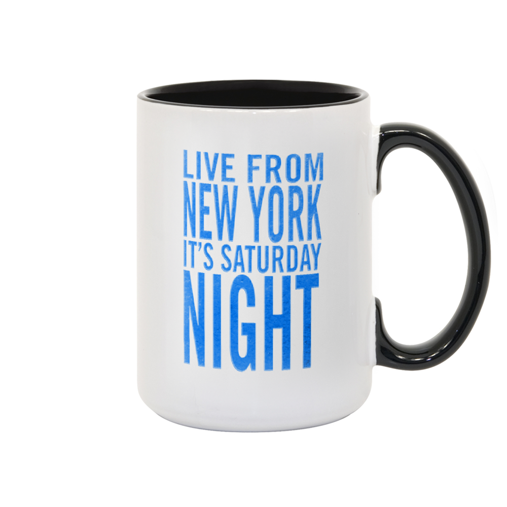 Saturday Night Live It's Saturday Night White and Black Mug