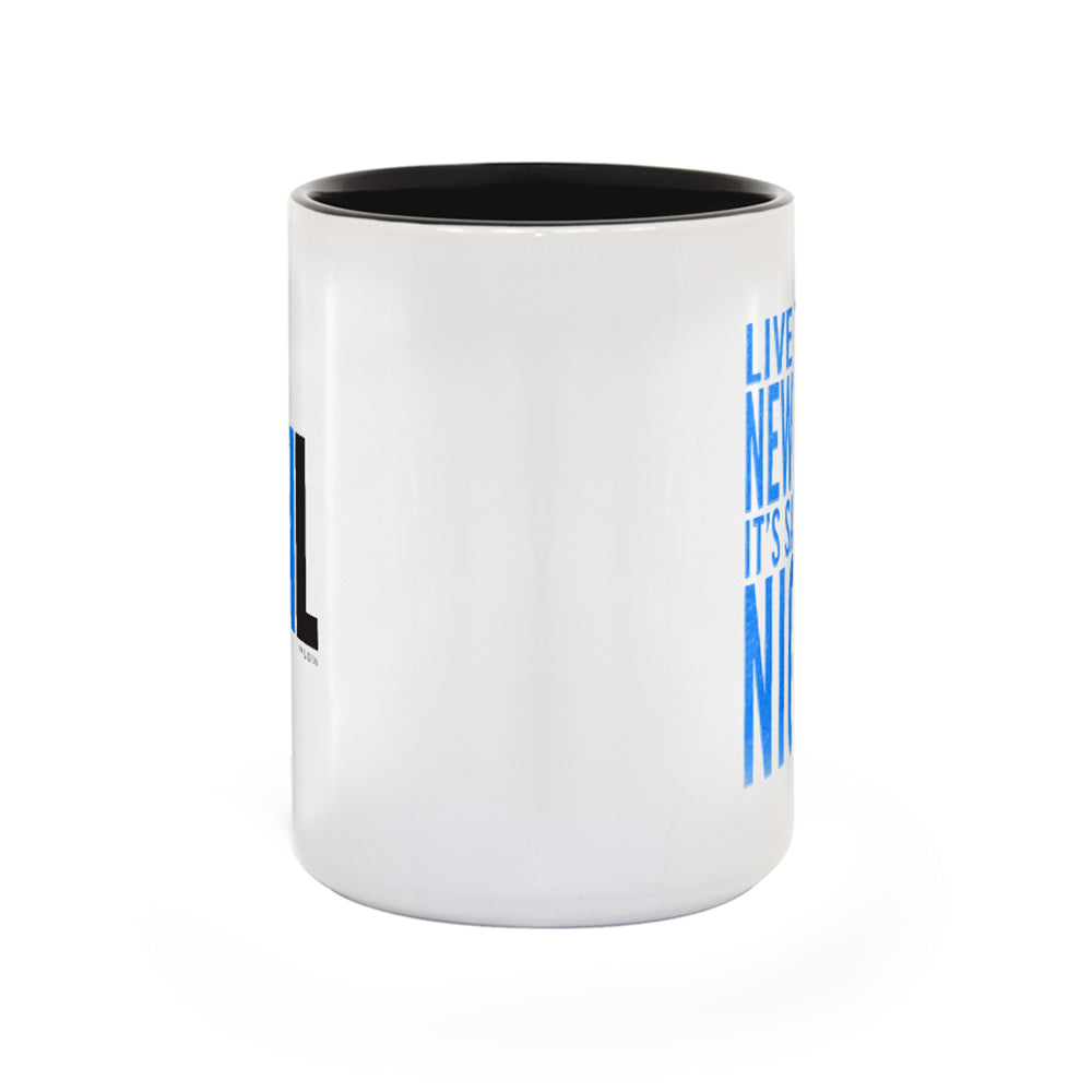 Saturday Night Live It's Saturday Night White and Black Mug-secondary-image