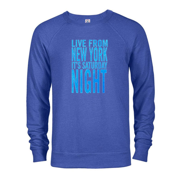 Saturday Night Live It's Saturday Night Crew Sweatshirt