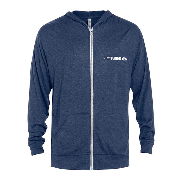 Stay Tuned Tri-Blend Zip-Up Hooded Sweatshirt