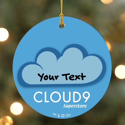 Personalized Superstore Cloud 9 Double-Sided Ornament
