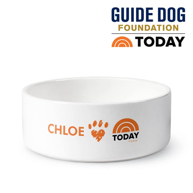 Personalized TODAY Small Pet Paw Bowl