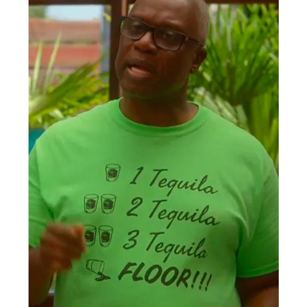 Brooklyn Nine Nine Captain Holt's 1  2  3 Tequila Men's Short Sleeve T-Shirt
