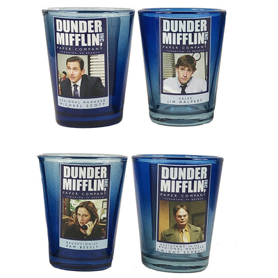 The Office Dunder Mifflin Shot Glass Set
