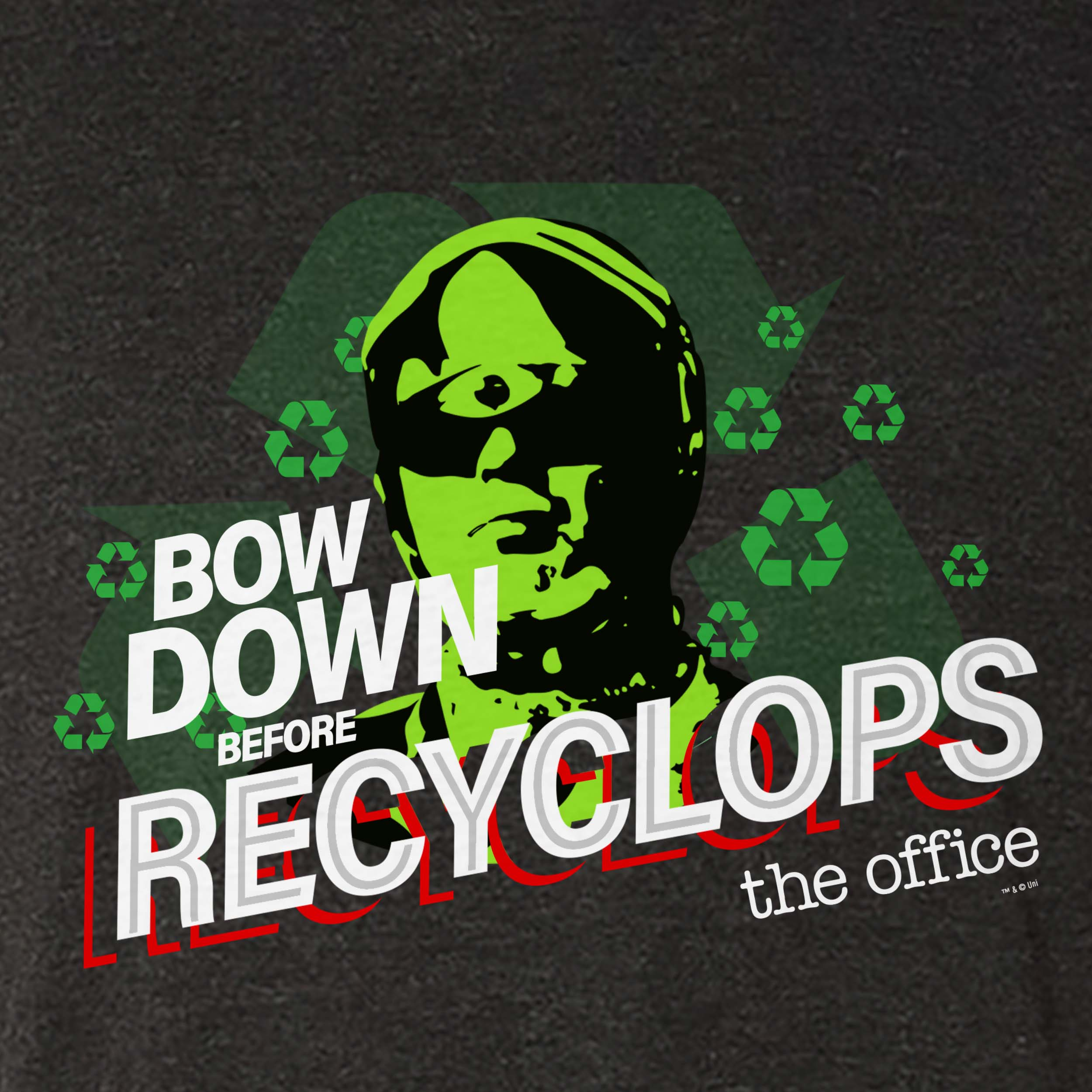 The Office Bow Down Before Recyclops Men's Tri-Blend T-Shirt-secondary-image