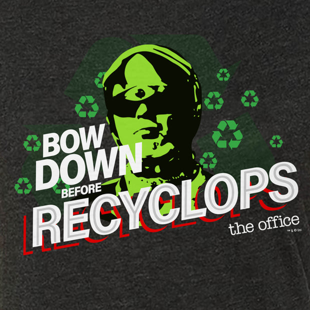 The Office Bow Down Before Recyclops Women's Tri-Blend T-Shirt