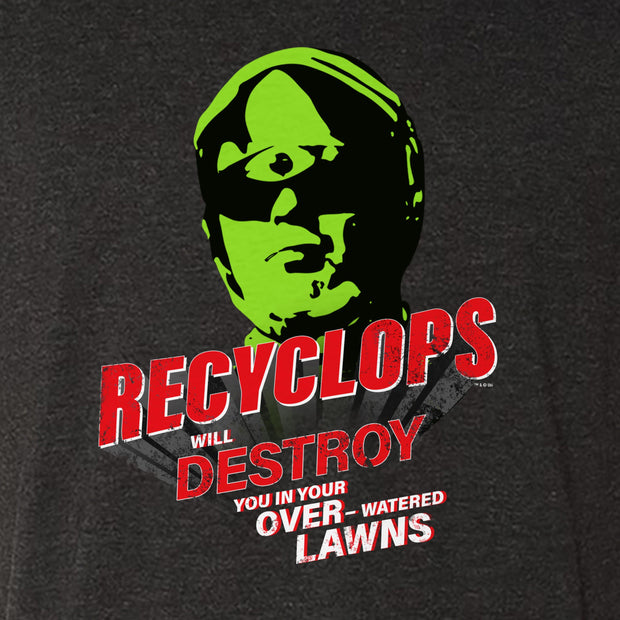 The Office Recyclops Over-Watered Lawns Men's Tri-Blend T-Shirt