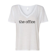 The Office Logo Women's Relaxed V-Neck T-Shirt