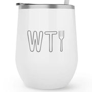 The Good Place WTFork 12 oz Stainless Steel Wine Tumbler