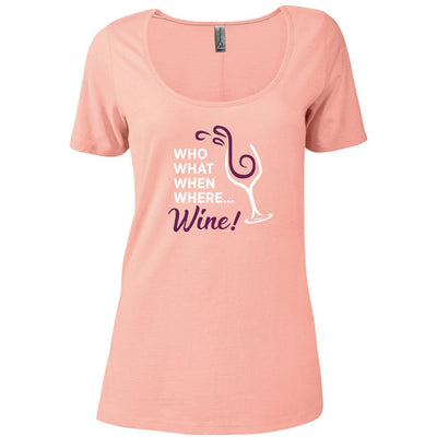 The Good Place Who  What  When  Where  Wine Women's Relaxed Scoop Neck T-Shirt