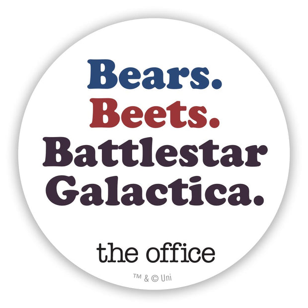 The Office Bears Beets Battlestar Galactica 2 1/2 Stickers - 96 Pack