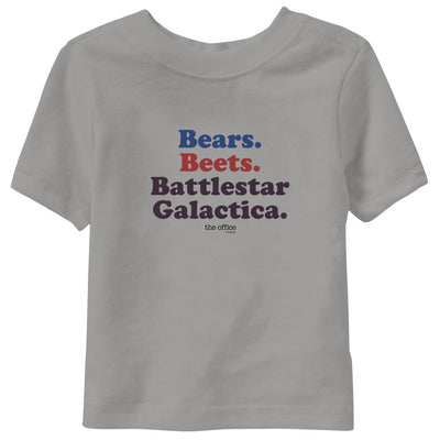 The Office Bears. Beets. Battlestar Galactica Toddler Short Sleeve T-Shirt