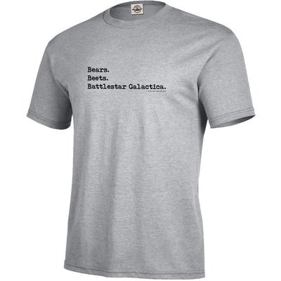 The Office Bears. Beets. Battlestar Galactica Men's Short Sleeve T-Shirt