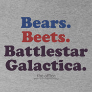 The Office Bears. Beets. Battlestar Galactica Women's Tri-Blend T-Shirt