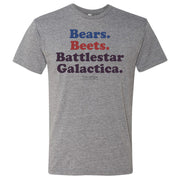 The Office Bears. Beets. Battlestar Galactica Men's Tri-Blend T-Shirt
