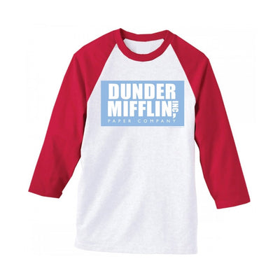 The Office Dunder Mifflin Raglan Softball T-Shirt