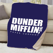 The Office Dunder Mifflin Sherpa Blanket