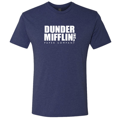 The Office Dunder MIfflin Men's Tri-Blend Short Sleeve T-Shirt