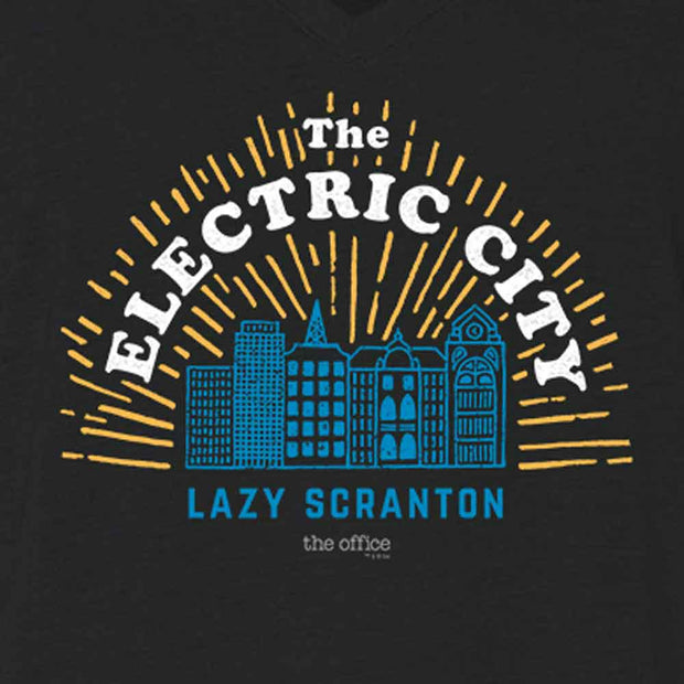 The Office The Electric City Women's Relaxed V-Neck T-Shirt