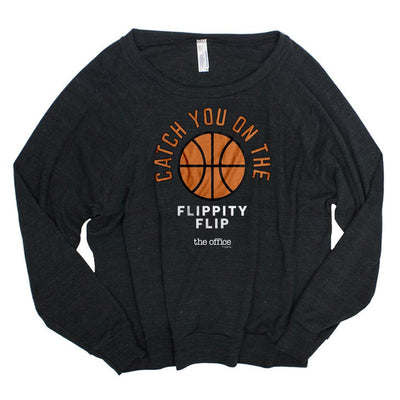 The Office Catch you on the Flippity Flip Women's Tri-Blend Pullover Sweatshirt